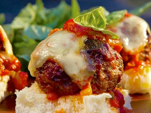 Italian Meatball Sliders with Red Sauce