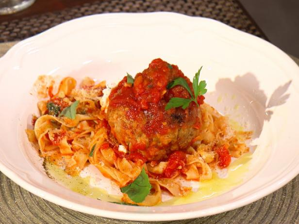 Spaghetti and Meatballs with Ricotta