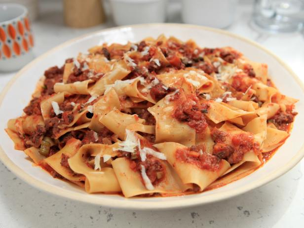 Spicy Sausage Bolognese with Pappardelle