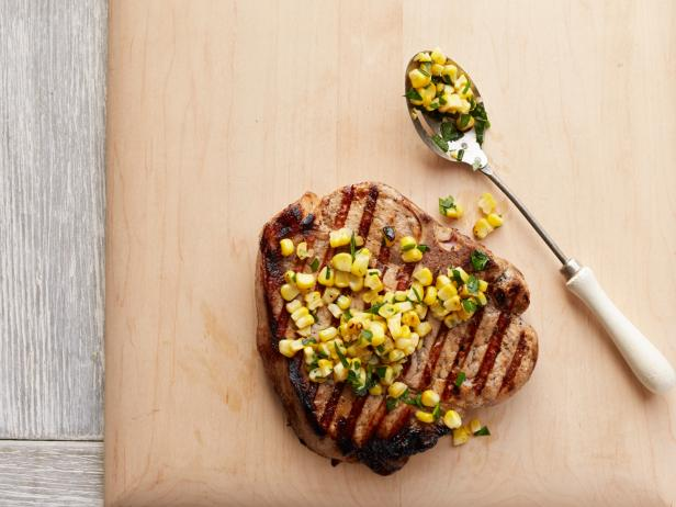 Buttermilk Pork Chops with Corn Relish