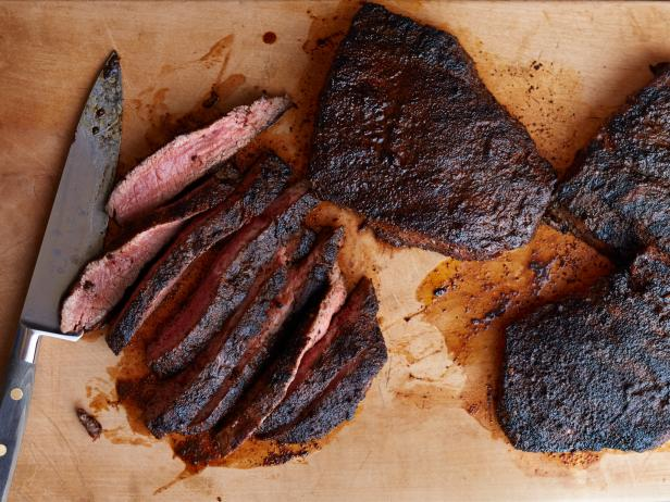 Chili and Coffee-Rubbed Steaks