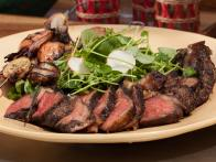 Grilled Cowboy Rib Eye with Watercress Salad