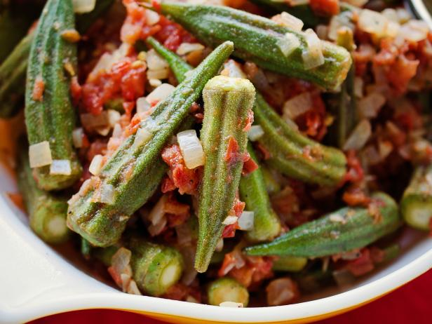 Spiced Okra and Tomatoes Recipe | Virginia Willis | Food Network