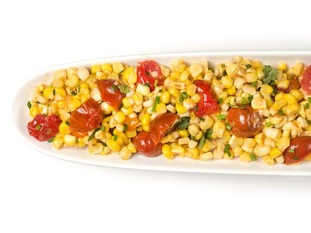 Corn with Tomatoes and Herbs