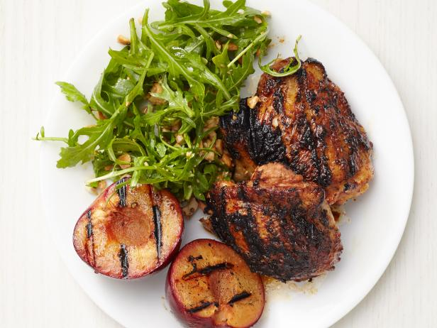 Grilled Hoisin Chicken and Plums