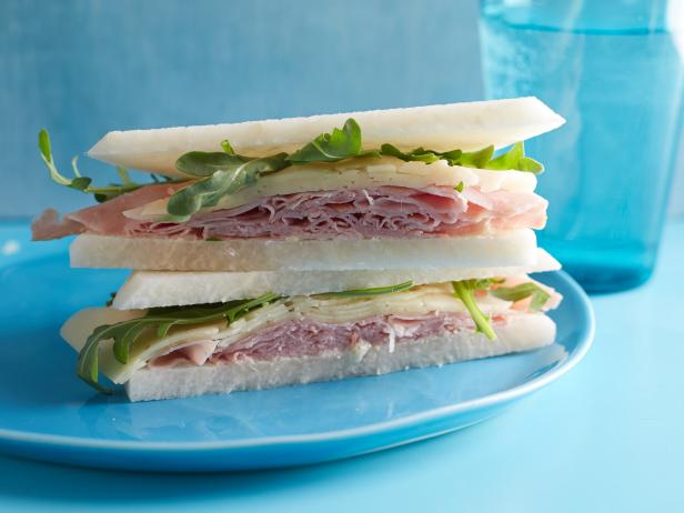 Breadless Ham and Cheese Sandwiches