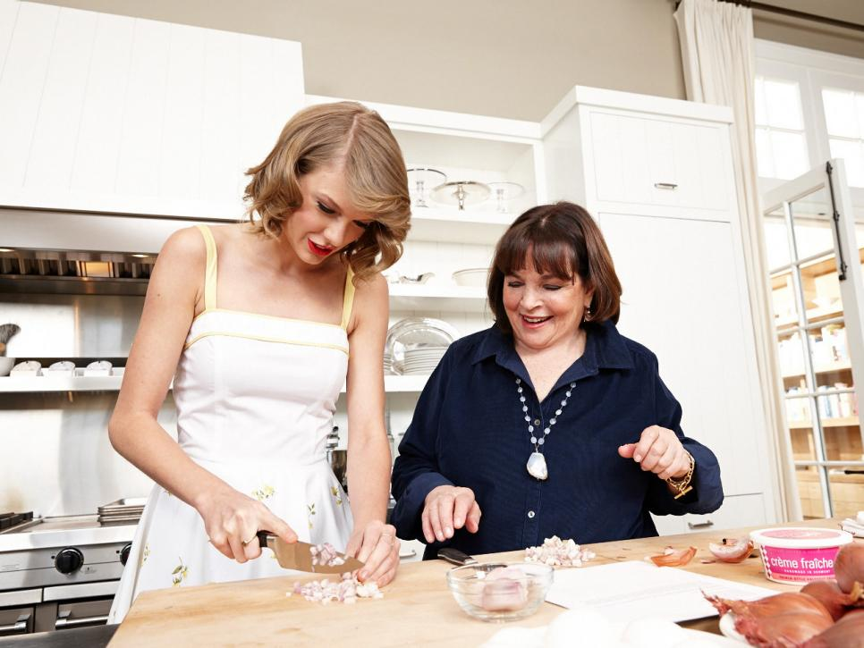 behind the scenes: ina garten and taylor swift | food network