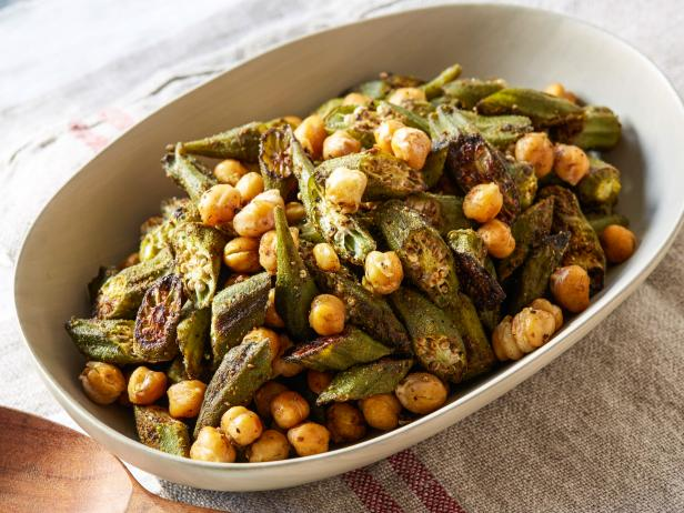Roasted Okra and Chickpeas