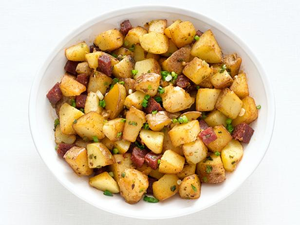 Potato-Pepperoni Hash