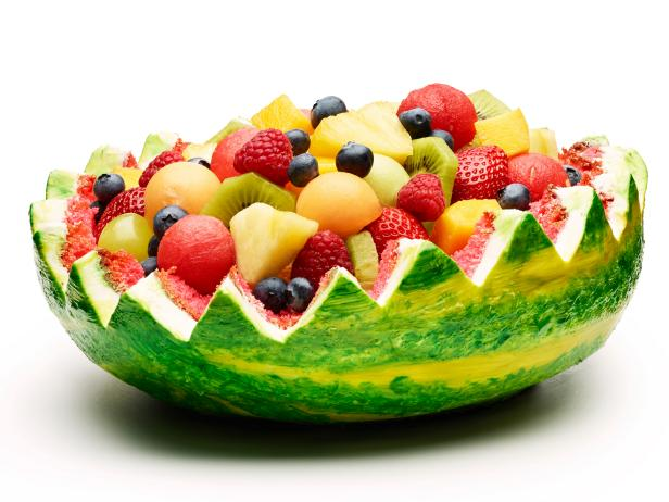 Watermelon Fruit Basket Cake