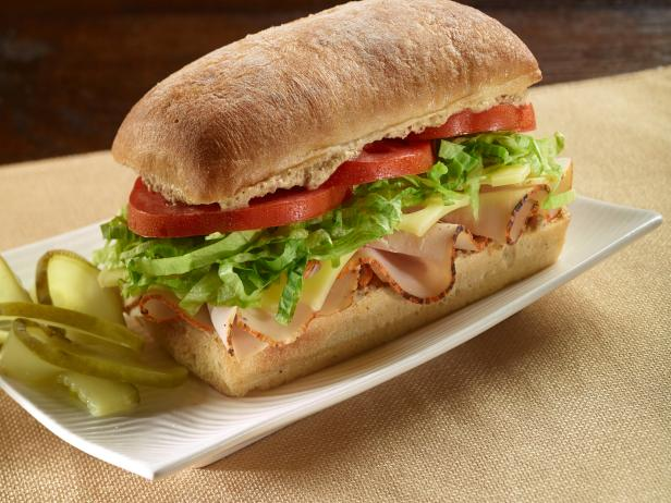 Turkey and Swiss Ciabatta