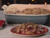 Snappy Pear and Cranberry Crumble