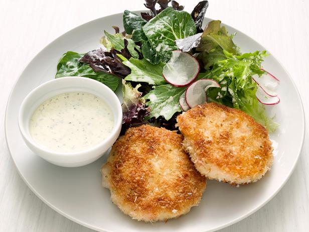 Shrimp Cakes with Scallion Dip