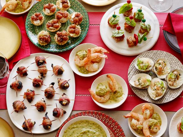 Retro One Bite Holiday Appetizers Food Network Holiday