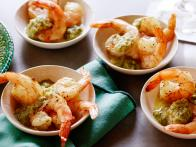Cumin-Roasted Shrimp with Green Chile Cocktail...