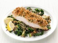 Deviled Cod with Winter Greens
