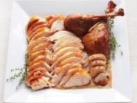 Roast Turkey and Gravy with Onions and Sage