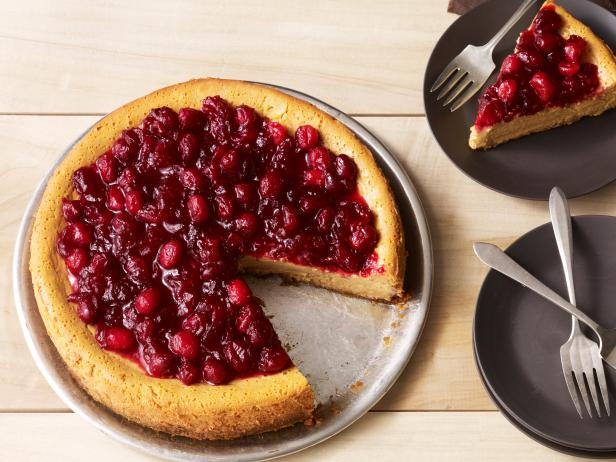 Pumpkin-Cranberry Cheesecake