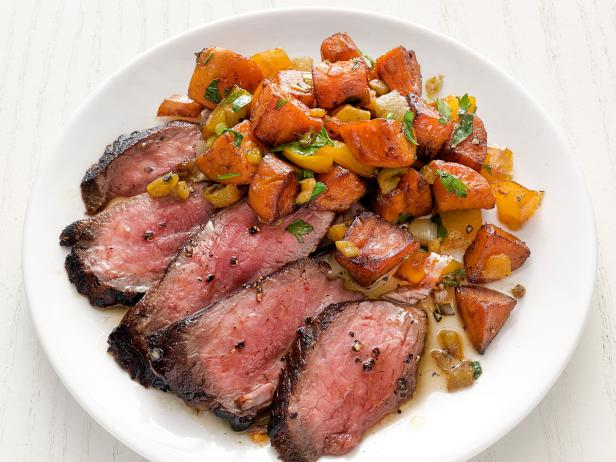 Steak with Sweet Potato Hash