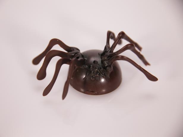 Infested Coconut Tapioca-Filled Chocolate Spiders