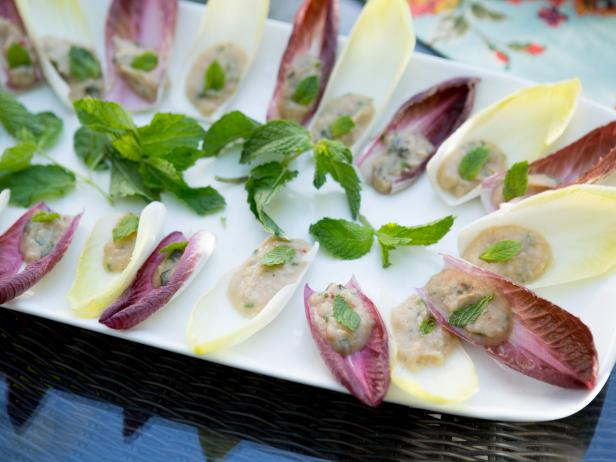 White Bean Puree on Endive