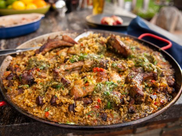 Pork and Chicken Paella Verde