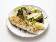 Baked Fish with Apple-Beet Salad
