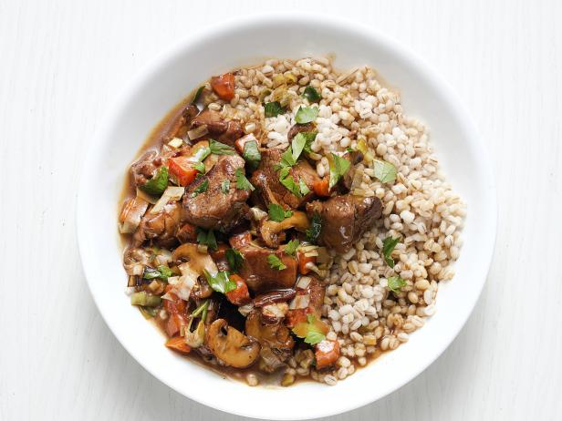 Pork with Mushrooms and Barley