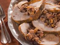 Rolled Turkey Breast with Nutty Fruit Stuffing