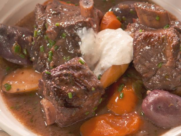 Short Rib Stew with Vegetables and Port