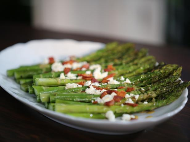 Asparagus with Bacon and Feta