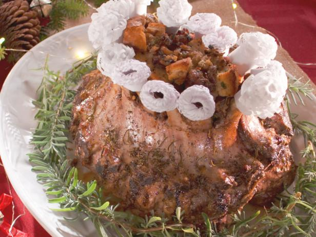 Crown Roast of Pork with Chestnut Sausage Stuffing