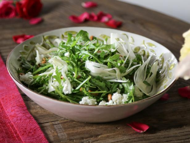 fennel salad with goat cheese and pine nuts - Ina Garten Fennel Salad