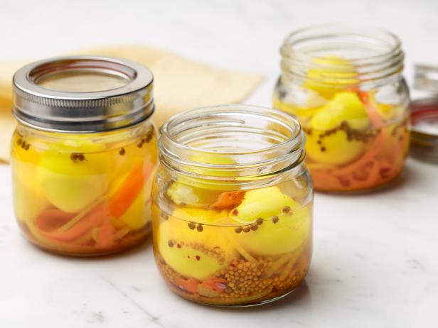 Golden Pickled Eggs with Carrots