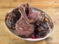 Prime Rib with Red Wine-Thyme Butter Sauce