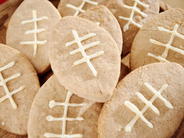 Walnut Football Cookies