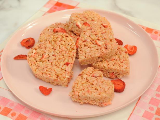 Pink Puffed Rice Cereal Hearts