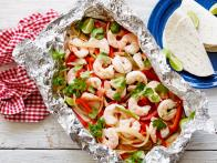 Healthy Grilled Shrimp Fajita Foil Pack
