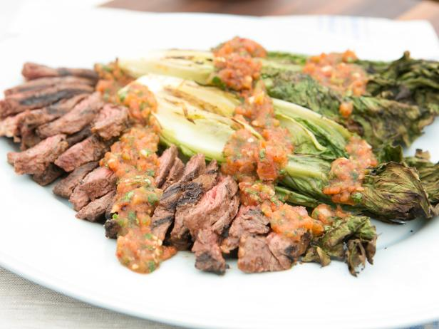 Skirt Steak Marinated with Roasted Tomato Salsa