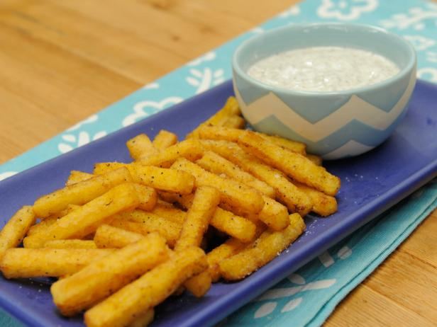 Polenta Fries with Sesame-Ginger Yogurt Dip