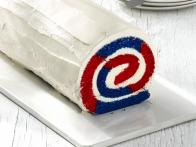 Red, White and Blue Cake Roll