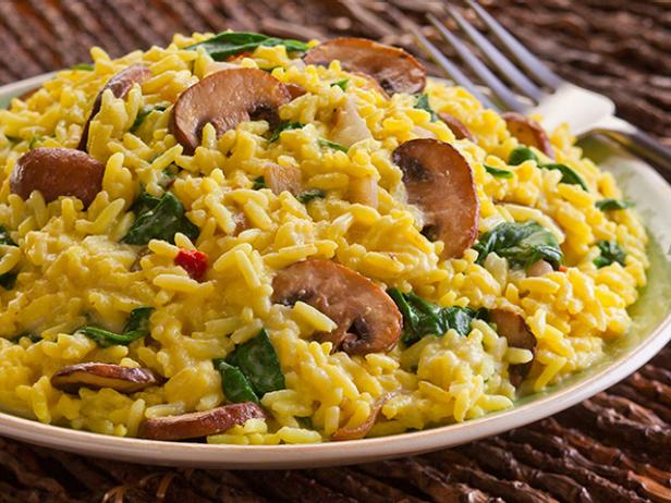 Creamy Spinach and Mushroom Risotto