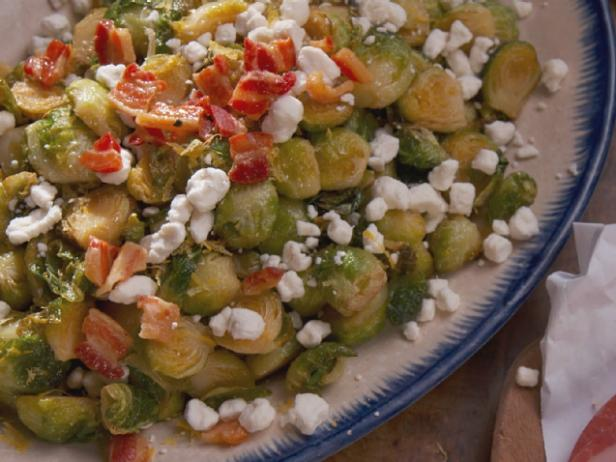 Roasted Brussels Sprouts with Crispy Pancetta
