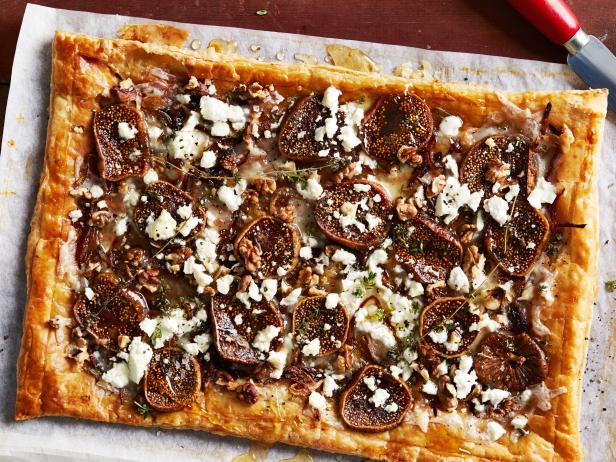 Simple Fig and Walnut Tart