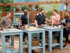 The three finalists of Food Network Star joined The Kitchen in a friendly competition to demonstrate their favorite poolside watermelon snacks. Here are their recipes.