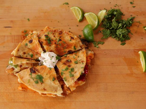 Quesadillas with Shrimp and Peppers
