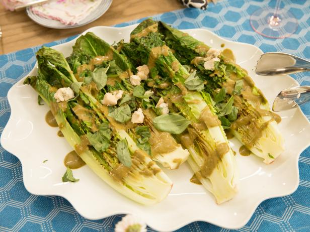 Grilled Romaine with Balsamic Dressing