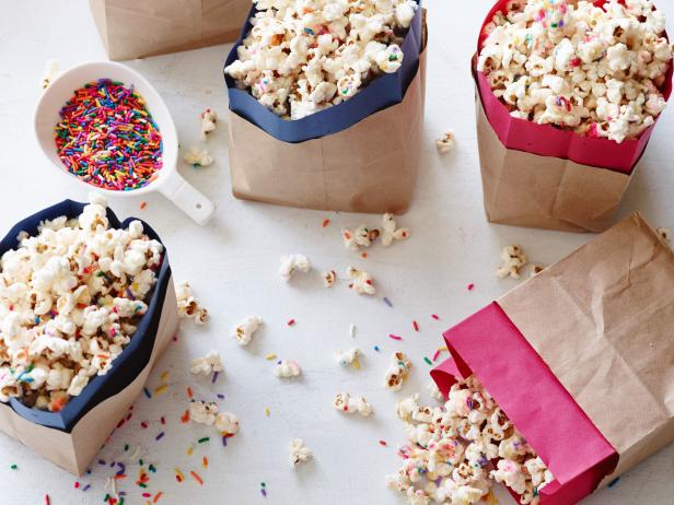 Birthday White Chocolate Popcorn