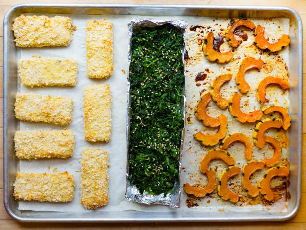 Crispy Tofu and Delicata Squash Sheet Pan Dinner
