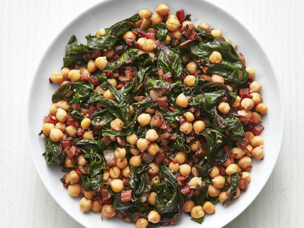 Chickpeas with Chard